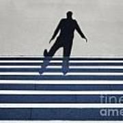 Shadow Walking The Stairs Art Print