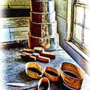 Shaker Box Making Vignette  Art Print