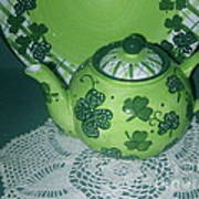 Shamrock Tea Art Print