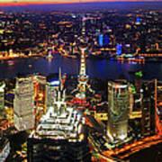 Shanghai Colour Blast Panorama Art Print