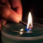 Sharing The Flame Art Print