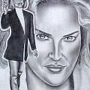 Sharon Stone Print by Rick Hill
