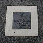 Shea Stadium Third Base Art Print