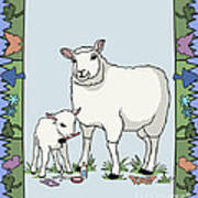 Sheep Artist Sheep Art Art Print