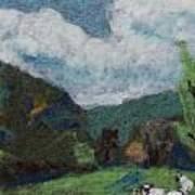 Sheep In The Field Art Print by Nicole Besack