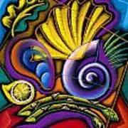 Shellfish Art Print by Leon Zernitsky