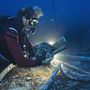 Shipwreck Excavation Art Print