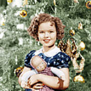 Shirley Temple Holding Doll Art Print by Everett
