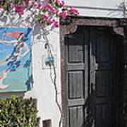 Shop On The Corner Santorini Art Print
