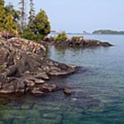 Shore Of Isle Royale Art Print