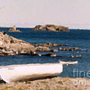 Shoreline Boat Art Print