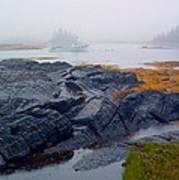 Shorelines Bluerocks Lunenburg Nova Scotia Art Print