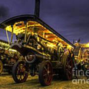 Showmans Engine By Night  Art Print