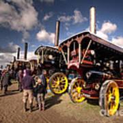 Showmans Engines At Dorset  Art Print