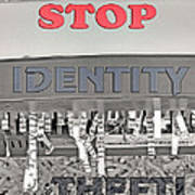 Shred Your Identity 2 Art Print