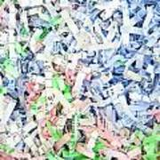 Shredded Paper Art Print by Tom Gowanlock