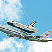 Shuttle Enterprise Comes To Ny Art Print by Regina Geoghan