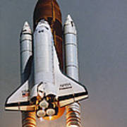 Shuttle Lift-off Art Print by Science Source