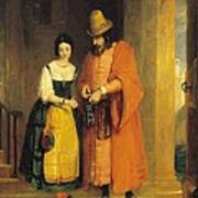 Shylock And Jessica From 'the Merchant Of Venice' Art Print