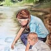 Siblings Art Print by Myrna Migala