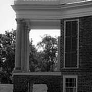 Side View South Portico Bw Art Print