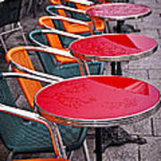 Sidewalk Cafe In Paris Art Print