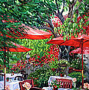 Sidewalk Cafe Art Print