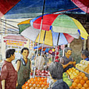 Sidewalk Vendors Art Print