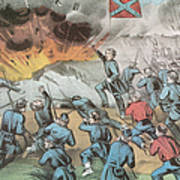 Siege And Capture Of Vicksburg, 1863 Art Print by Photo Researchers