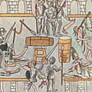 Siege Of Tenochtitlan, 1521 Art Print