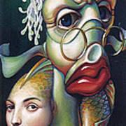 Siegfried And Koi Art Print