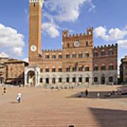 Siena Italy - Piazza Del Campo With Palazzo Pubblico Art Print