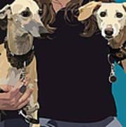 Sighthounds Art Print by Kris Hackleman