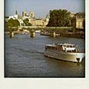 Sightseeings On The River Seine In Paris Art Print