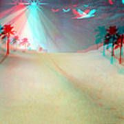 Silent Night - Red And Cyan 3d Glasses Required Art Print