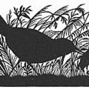 Silhouette: Bird & Insect Art Print