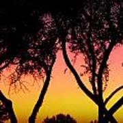 Silhouette Of Autumn Art Print