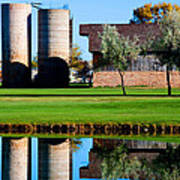 Silos On The Green Art Print