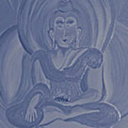 Silver Buddha Art Print