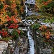 Silver Cascades Surrounded By Colors Art Print