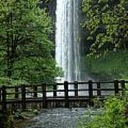 Silver Falls 2 In Oregon Art Print