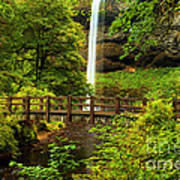 Silver Falls Bridge Art Print
