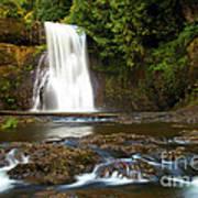 Silver Falls Waterfall Art Print