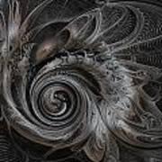 Silver Spiral Art Print