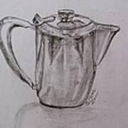 Silver Teapot Art Print
