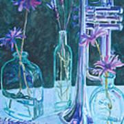 Silvery Night Music Art Print