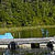 Simple Waterslide On Portage Lake Art Print