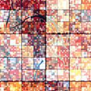 Sinful Geometric Red Art Print