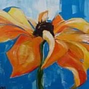 Single Cornflower Art Print