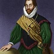 Sir Francis Drake, English Explorer Art Print by Maria Platt-evans